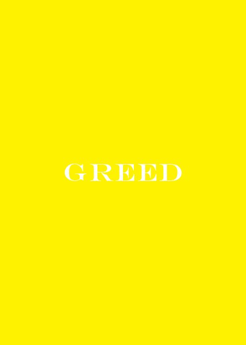 7 Deadly Greed Seven Deadly Sins Words