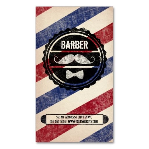 Traditional Barber - Business Card Design Inspiration | Card Nerd ...