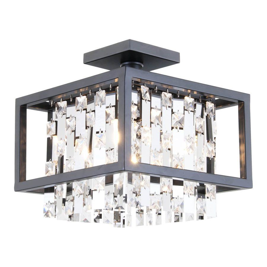 Shop dvi eclipse 12 in w graphite crystal crystal accent semi flush shop dvi eclipse 12 in w graphite crystal crystal accent semi flush mount light arubaitofo Gallery