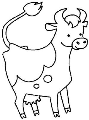 Cows coloring page 8 | Cows coloring book | Pinterest | Cow ...