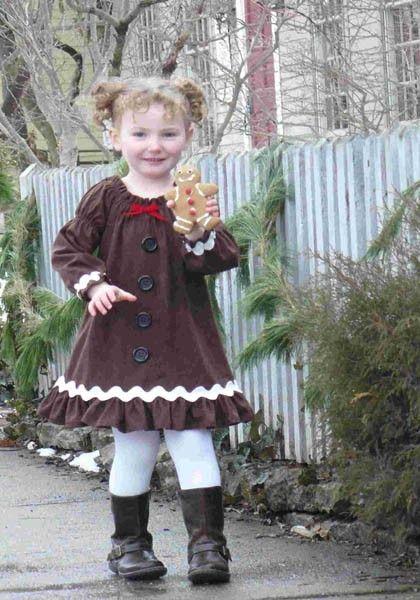Gingerbread Dress Girls Christmas Dresses Kids Outfits