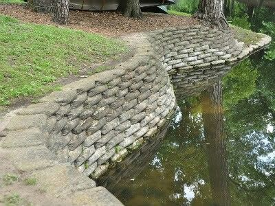 Pin By Johnnie Walker On Water Dam Landscaping Retaining Walls Concrete Retaining Walls Pond Landscaping