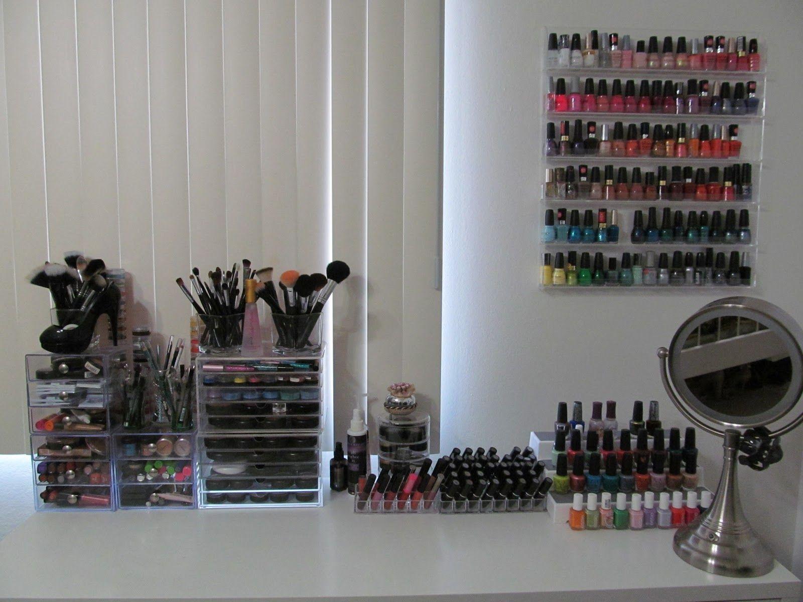 Best Images About Makeup Storage Ideas On Pinterest Storage - Makeup vanity ideas