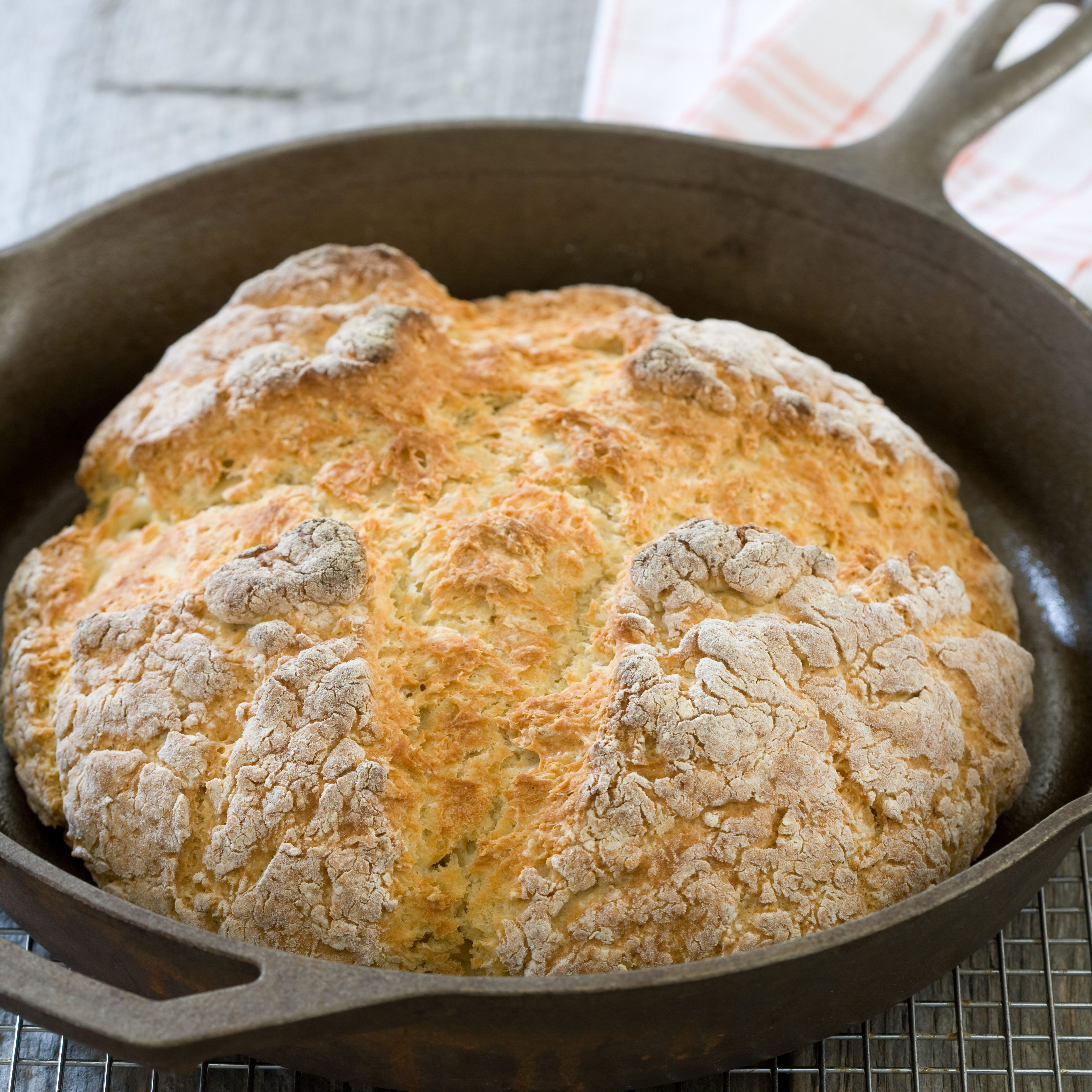 Authentic Irish soda bread has a tender, dense crumb and a rough ...