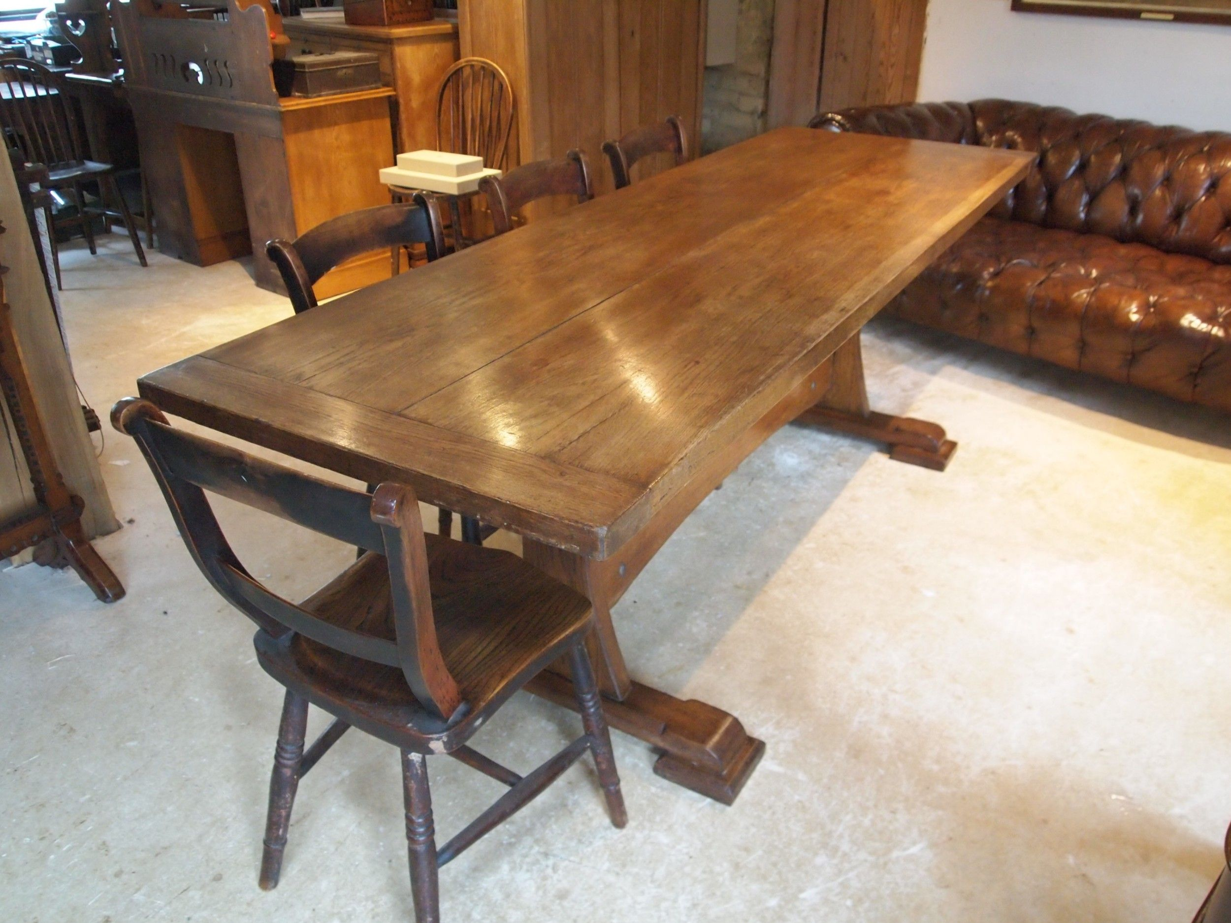 Table Refectory Farmhouse Dining Arts And Crafts Oak C1900
