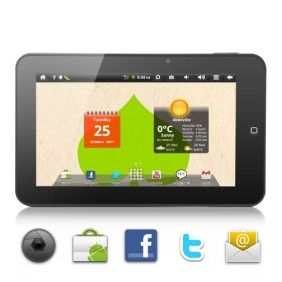 # List Price:  US$174.00  Price:        * US$        € £ CA$ AU$ HK$ CHF ¥    99.12  The Transcend Android 2.2 7 inch tablet computer is one of the hottest tablets on the market today. Offering both value and quality it is a great looking Android tablet that is highly functional and easy to use.    The Transcend comes complete with a responsive 7 inch touchscreen and Google's Android 2.2 OS housed in an ultra cool design.