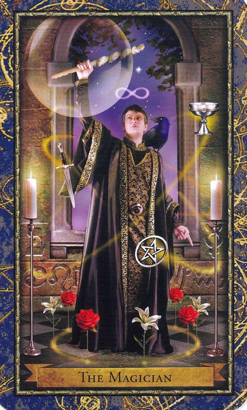 The Magician ~ Wizards Tarot deck- If you love Tarot visit me at www.WhiteRabbitTarot.com