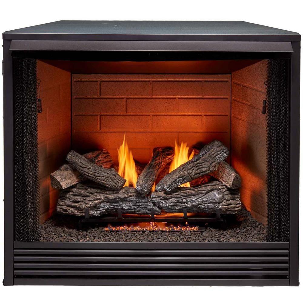Procom 36 In Ventless Gas Firebox Insert Small Gas Fireplace