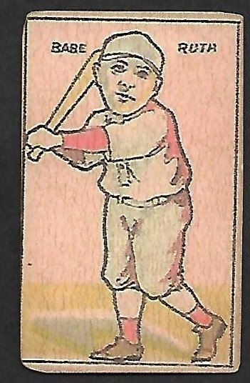 New Just In 1920 21 Big Head Babe Ruth Strip Card Cards