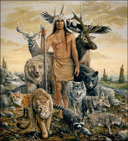 Peggy O'Neal Native American Art - Once We Were One