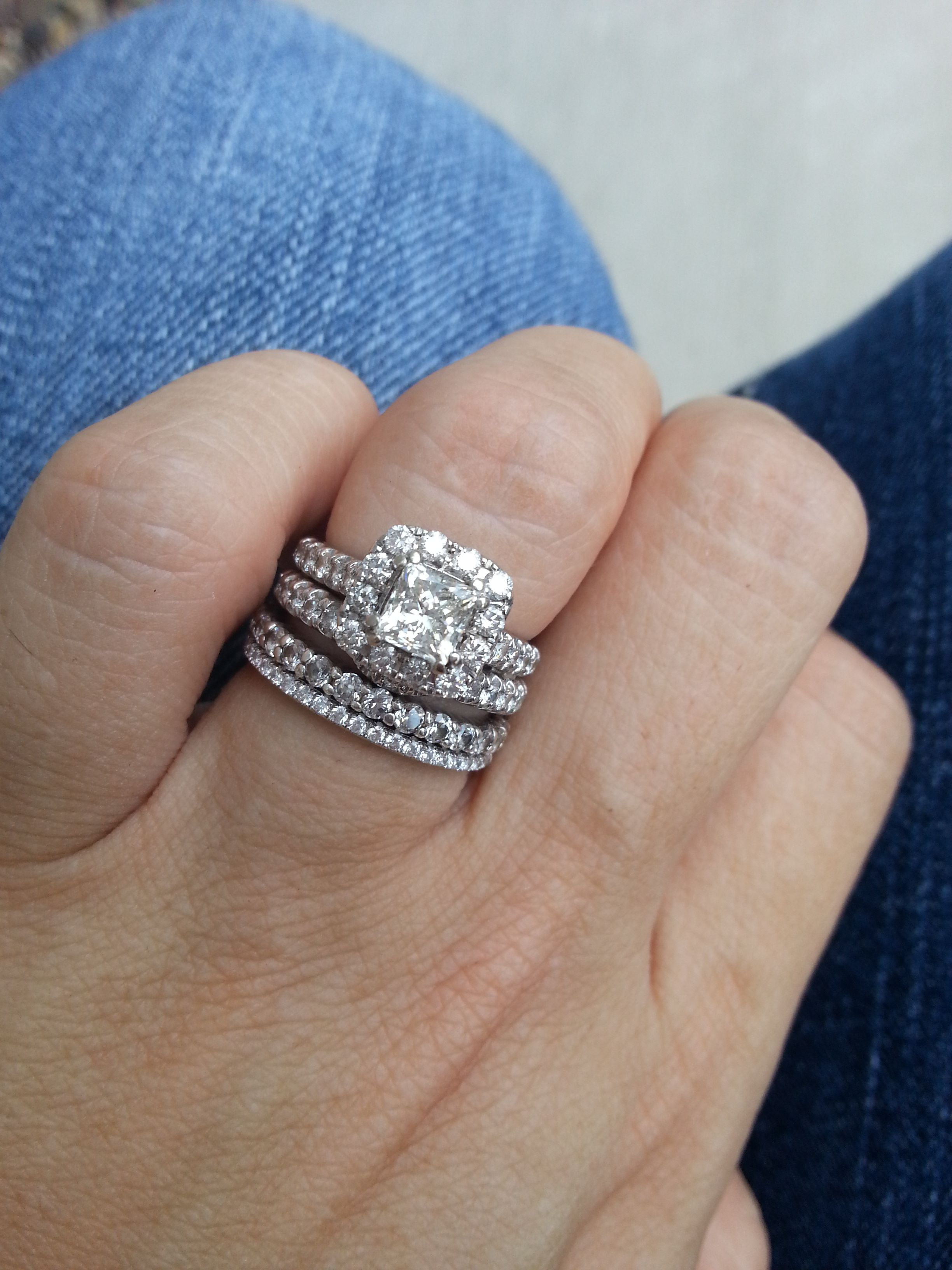 4a1affe2fc11 Pics of Neil Lane 1.5 ct Halo Engagement Ring on 4.5 size Finger! -  Weddingbee