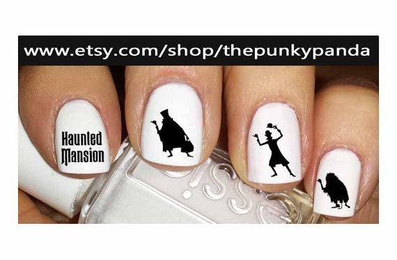 disney haunted mansion nail art - Google Search