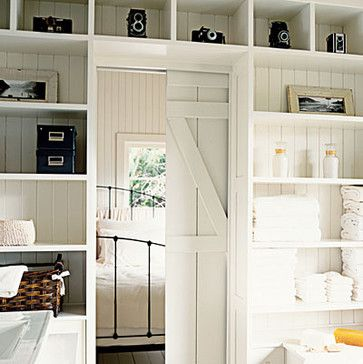 Love This Built In Bookshelves With Sliding Barn Door That Goes Behind Working On A Similar Project Now Details Such As An All W Home Pocket Doors Home Decor