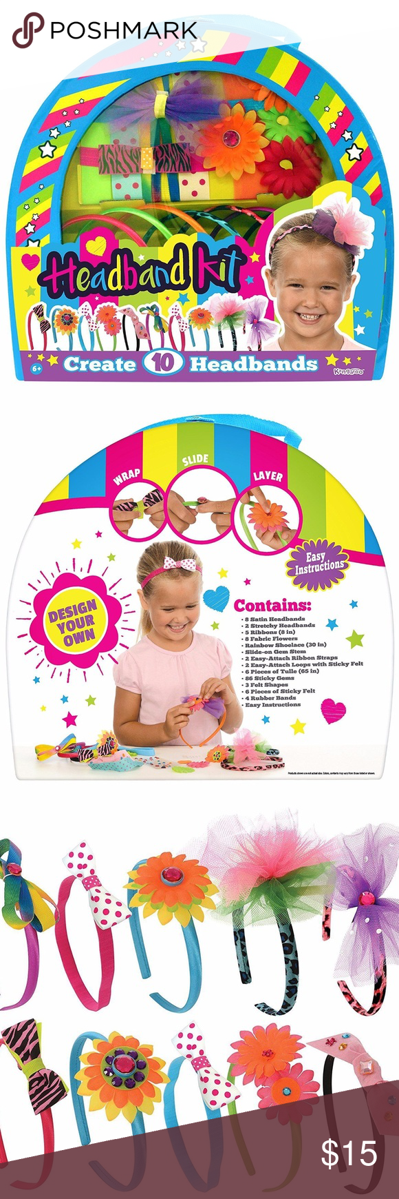 134 Pieces Headbands Kit