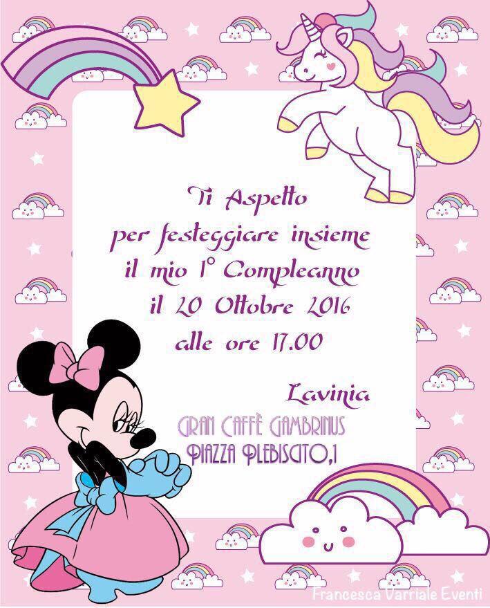 Inviti Minnie Bowtique Giuseppe Sergi Primo Compleanno Primo Compleanno Inviti Compleanno