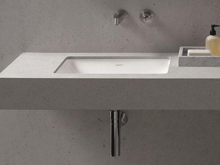 buy online me undermount washbasin by duravit undermount rectangular washbasin design philippe starck - Duravit Sink