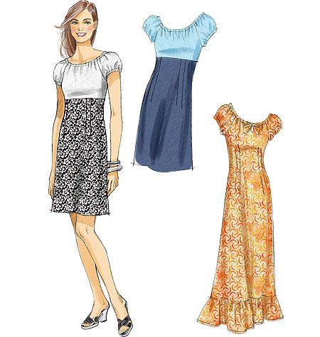 Misses' Dresses In 2 Lengths