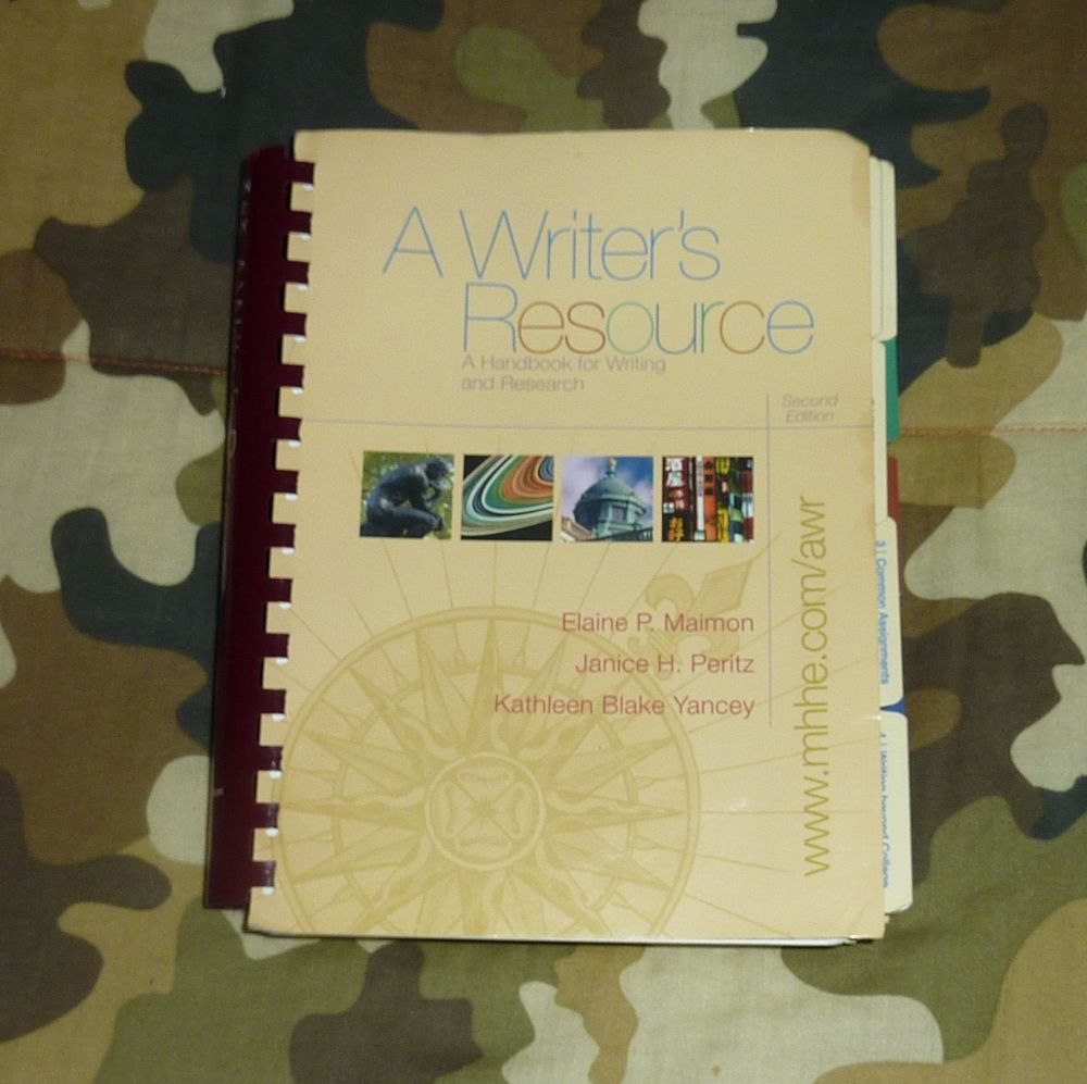 A Writers Resource Handbook For Writing And Research By Kathleen Blake Writer Book School English