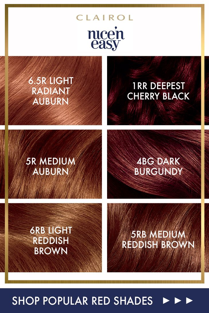 Clairol Nice 'N Easy Red Shades
