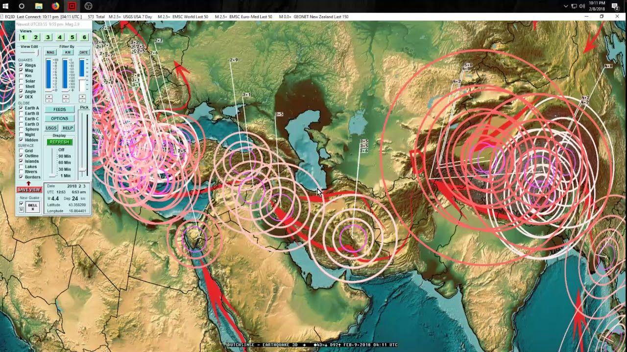 2082018 Multiple M56 Earthquakes spread across