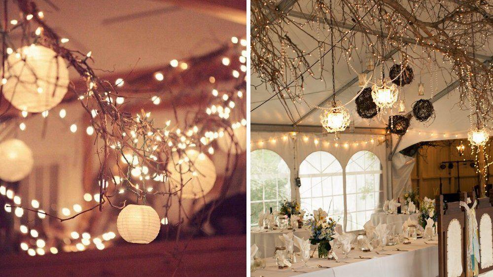 50 id es d co pour un mariage d hiver branchage hivernal et centres de table. Black Bedroom Furniture Sets. Home Design Ideas