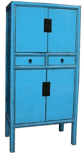 Blue Chinese Wedding Cabinet