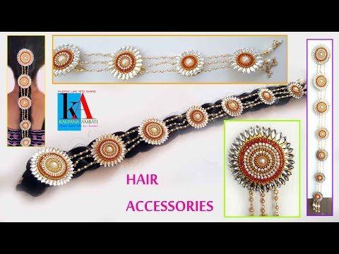 Bridal Pearl Ear Chains Champasaralu Maatilu making at Home using