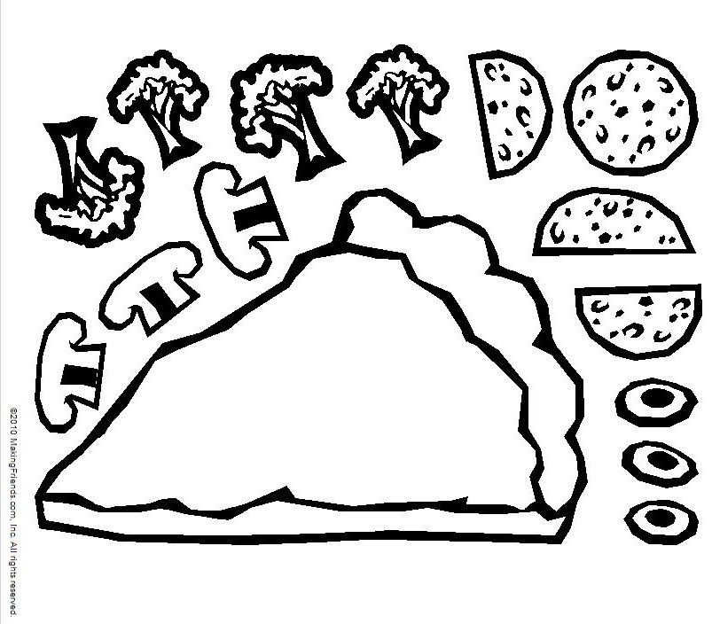 Pepperoni Coloring Page Coloring Coloring Pages