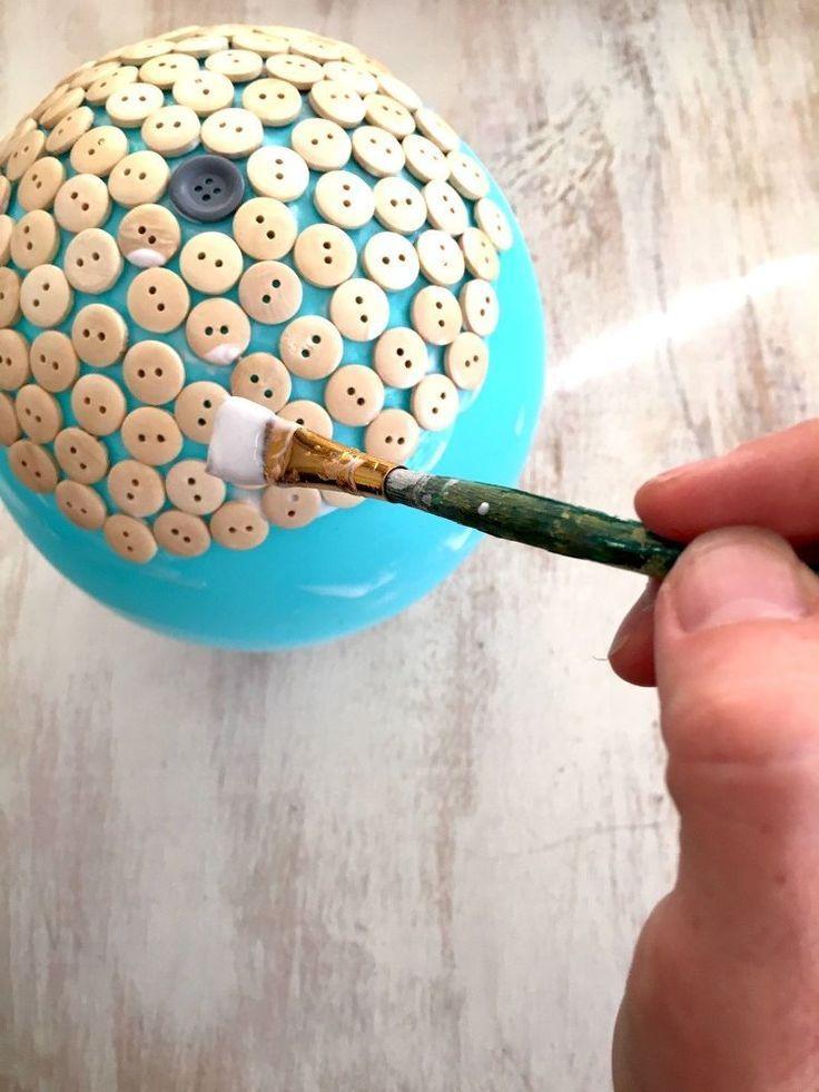 DIY Button Dish | DIY | Diy buttons, Button Crafts, Button ...