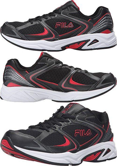 Fila Men's Thunderfire Athletic Sneakers, Black Leather