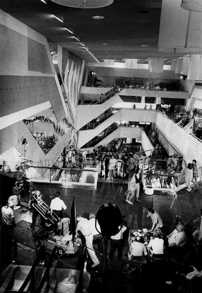 City Of Domes Behind The Scenes Shot On Location At The Dallas Market Center Dallas Texas In The Film Logan Logan S Run Logan S Run Movie Behind The Scenes
