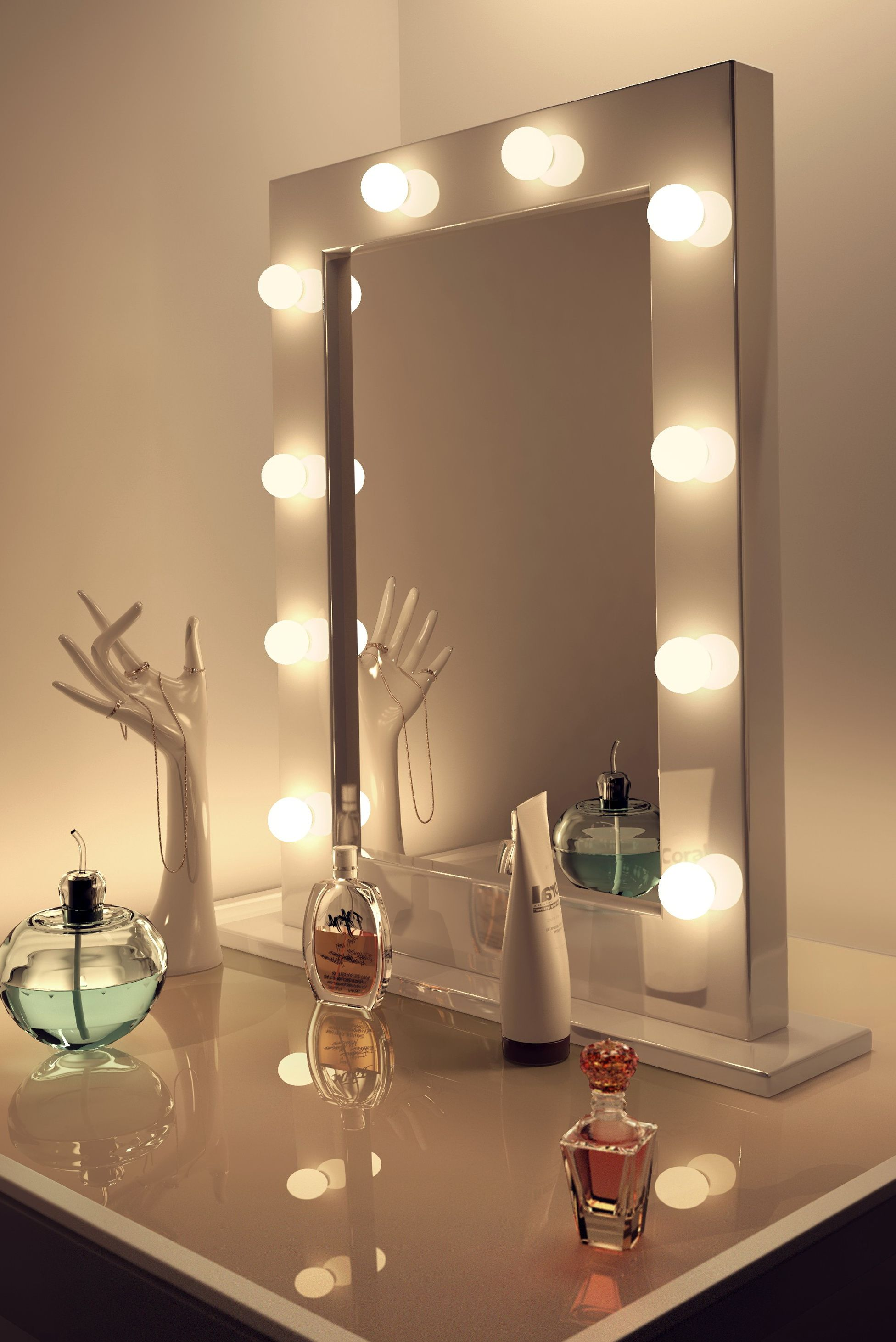 light mirror up with house vanity lights lighted decorations makeup fresh inspiration