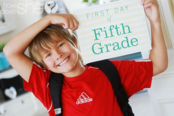 first day of school signs (free printables)