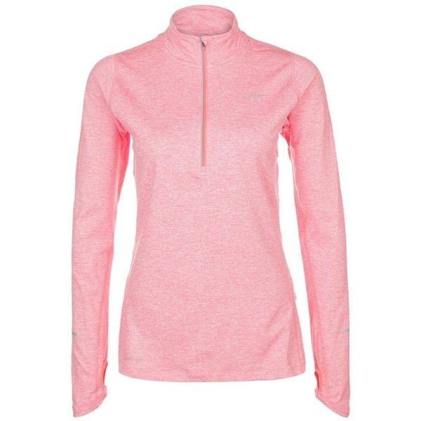 Nike Performance ELEMENT Long sleeved top rose (3.600 RUB) ❤ liked on Polyvore