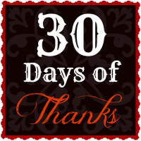 30 Days of Thanks - what an excellent idea by Life. Family. Love.