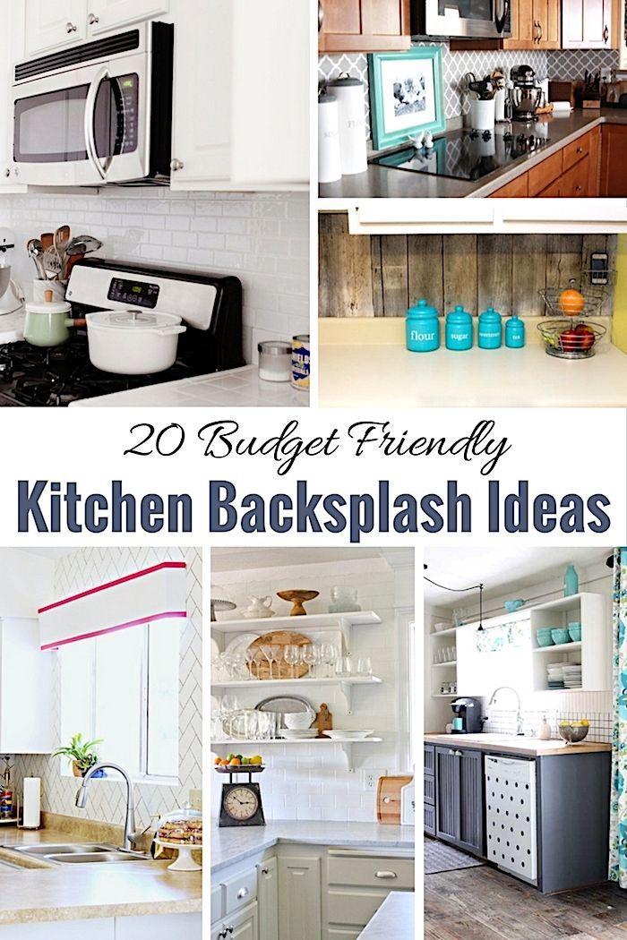 20 Budget Friendly Kitchen Backsplash Ideas Shabby Chic Kitchen