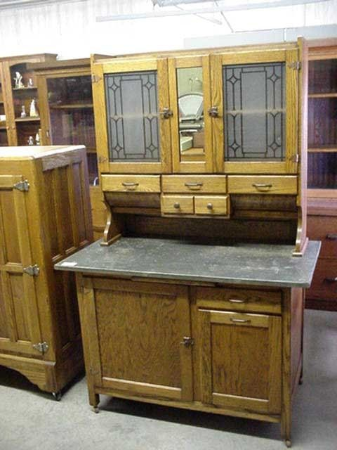 Collectibles-General (Antiques): repair of antique bakers cabinet, interior  wood, hoosier - Antique Hoosier Bakers Cabinet (Antiques): Repair Of Antique