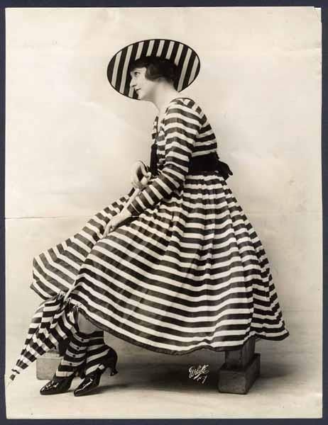 Actress Edith Whitney in the Ziegfield Follies' A Zebra Girl from 1915