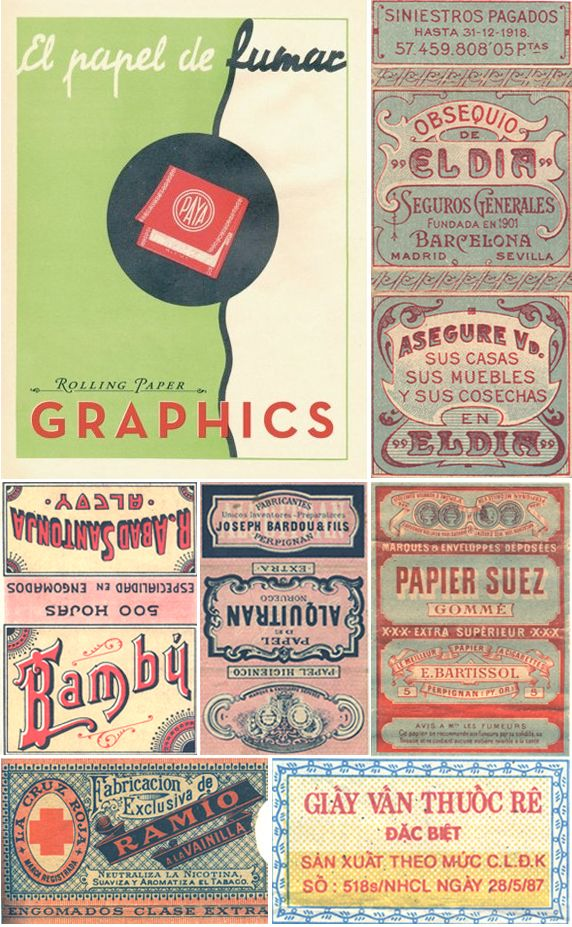 Rolling Papers Rolling Paper Vintage Packaging
