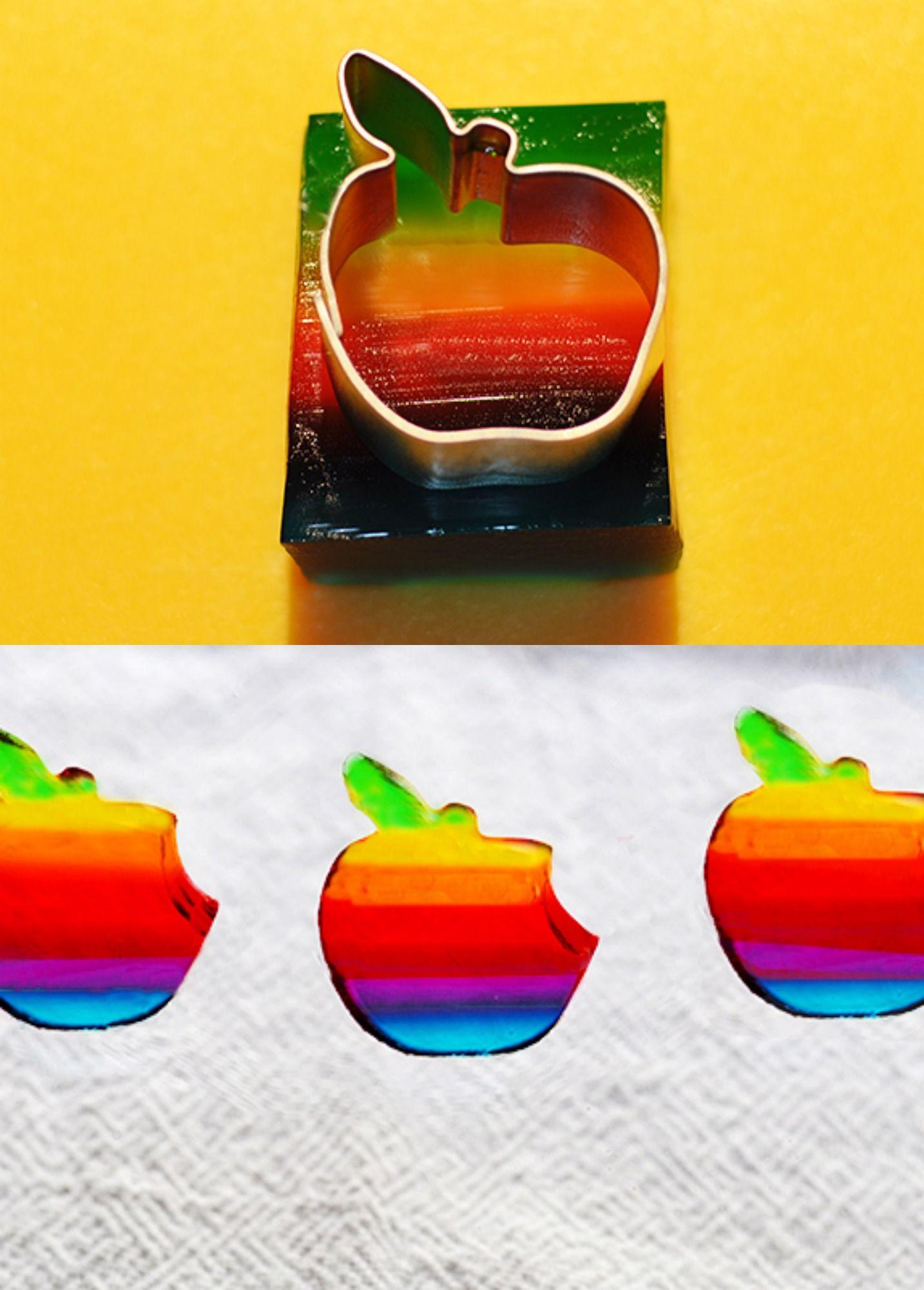 rainbow apple jelly shots delicious food pinterest. Black Bedroom Furniture Sets. Home Design Ideas
