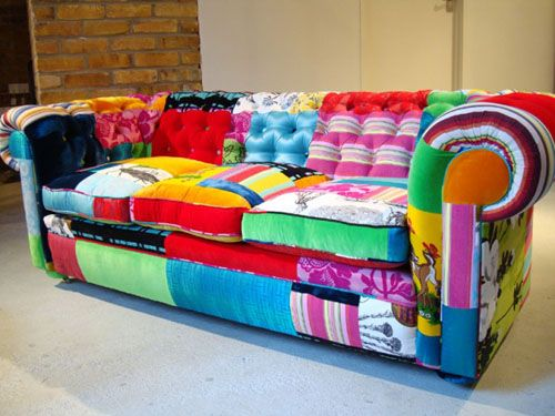 Eye Bomb Would Definitely Be A Focal Point Patchwork Sofa Patchwork Furniture Sofa Inspiration