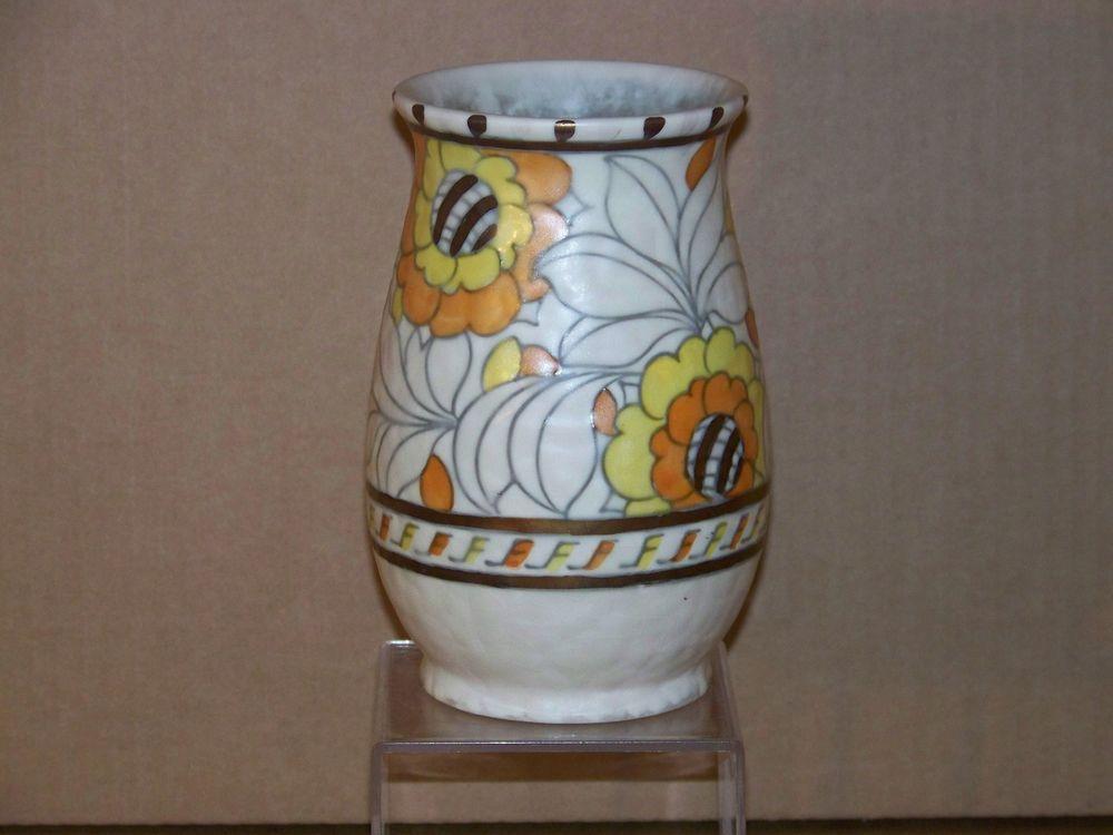 Charlotte Rhead Crown Ducal Art Deco Art Pottery Vase Epergne
