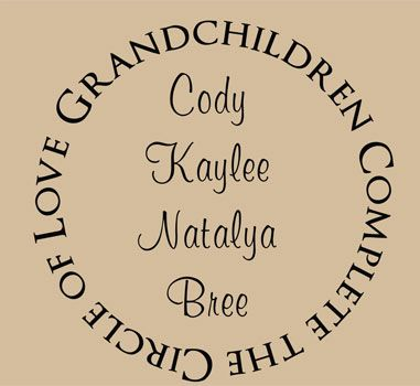 Family Wall Art Encourages Love of Grandchildren