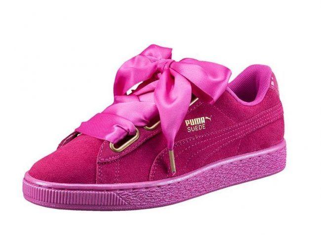 puma scarpe fiocco rosa