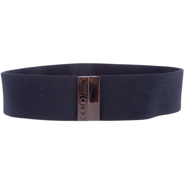 Pre-owned Jimmy Choo Canvas Waist Belt ($95) ❤ liked on Polyvore featuring accessories, belts, blue, blue waist belt, blue belt, jimmy choo and waist belt