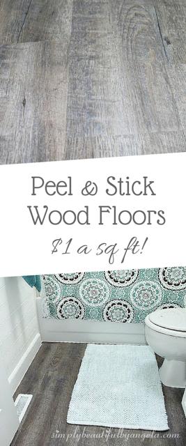 Peel And Stick Wood Look Vinyl Flooring Diy Flooring Peel