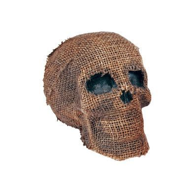 Burlap Skull #91193
