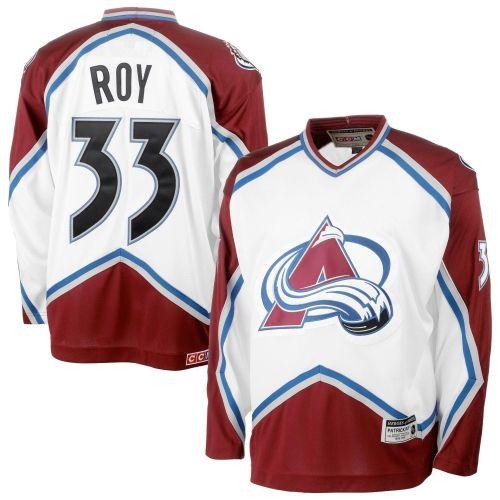 Patrick Roy Colorado Avalanche CCM Heroes of Hockey Alumni Jersey – White 50fc88a74