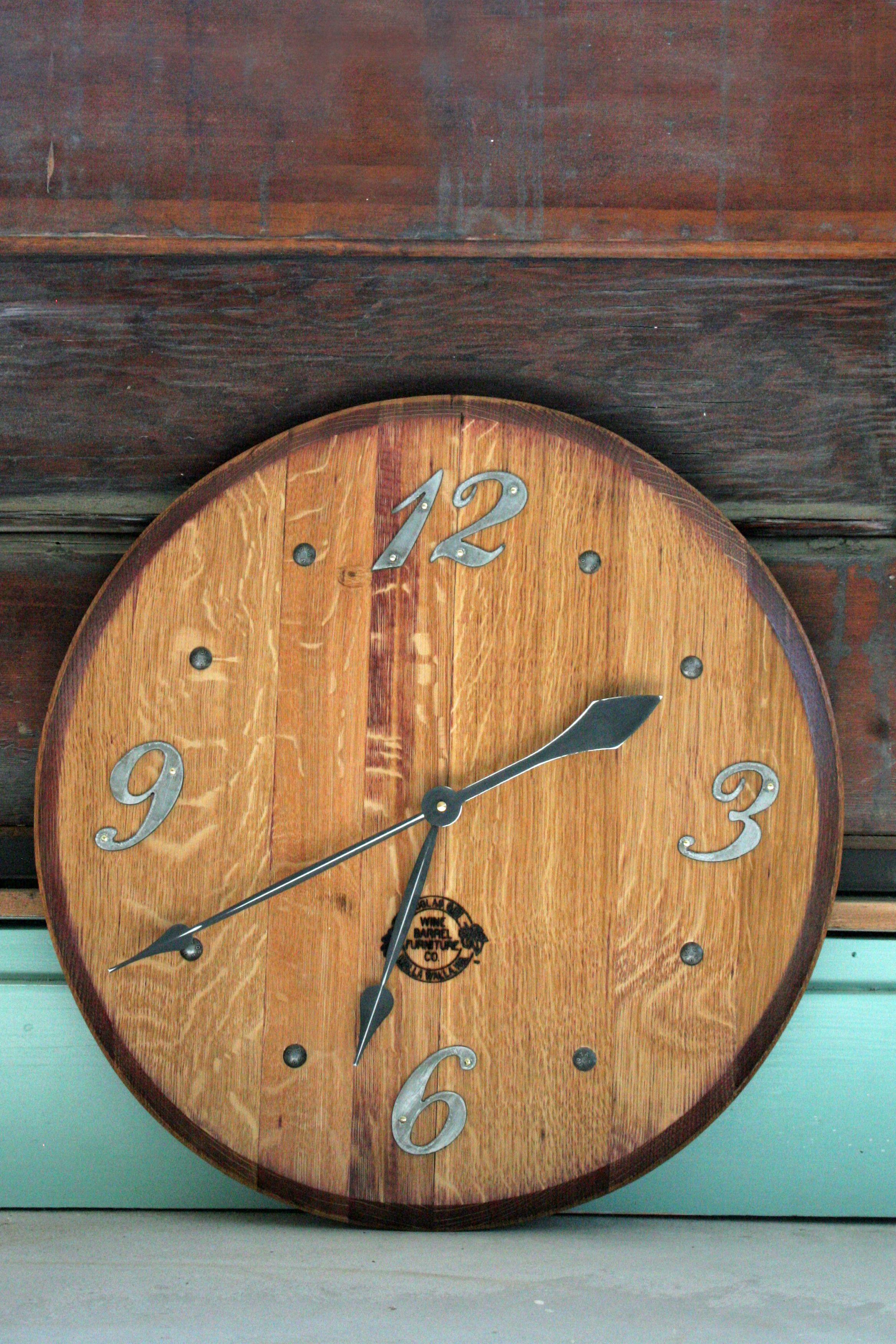 Barrel Top Clockdouglas Gisi Wine Furniture Walla