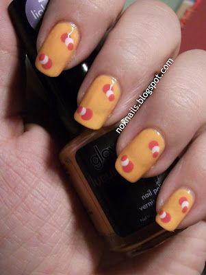 Neon Orange That Glows In The Dark With Simple Dot Nailart All